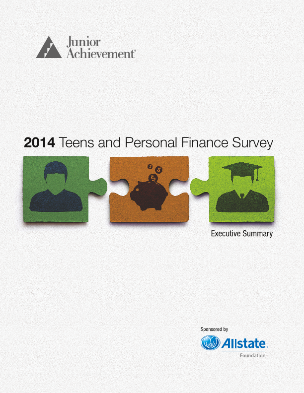 2014 Teens and Personal Finance Survey