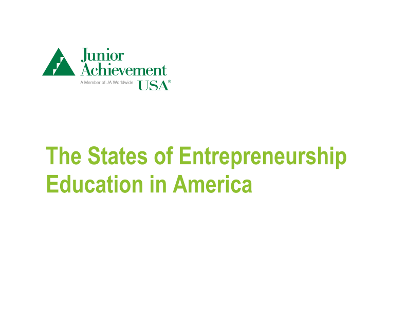 The States of Entrepreneurship Education in America